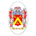 Twiss Sticker (Oval 50 pk)