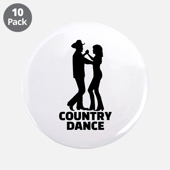 "Country dance 3.5"" Button (10 pack)"