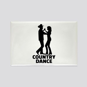 Country dance Rectangle Magnet