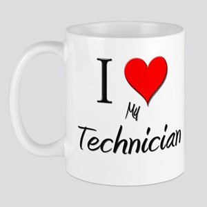 I Love My Technician Mug