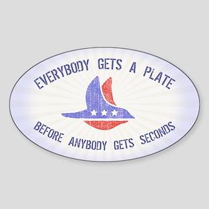 everybody gets a Sticker (Oval)