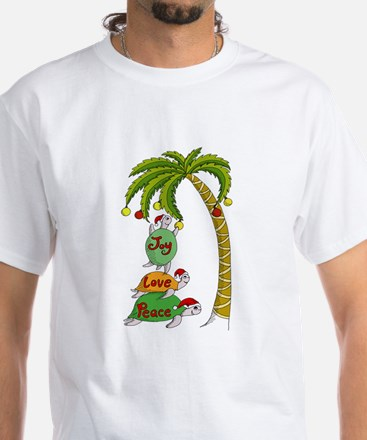 Hawaiian Christmas Turtles T-Shirt