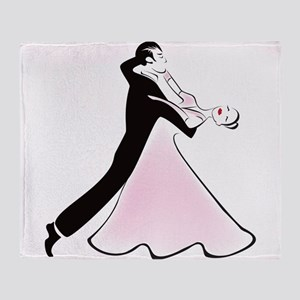 Couple dancing silhouette Throw Blanket