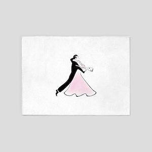 Couple dancing silhouette 5'x7'Area Rug