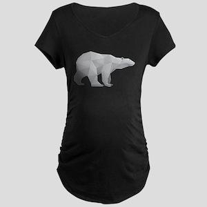Polar bear paper art Maternity T-Shirt