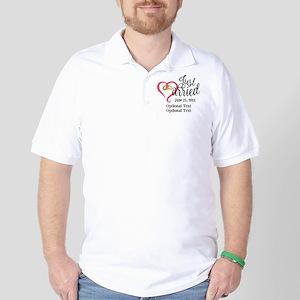 Just Married Custom Golf Shirt