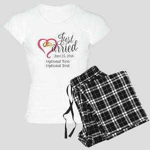 Just Married Custom Women's Light Pajamas