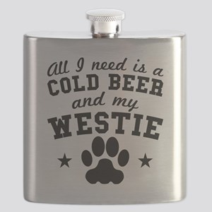 All I Need Is A Cold Beer And My Westie Flask