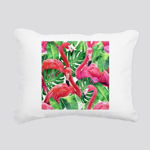Flamingo Rectangular Canvas Pillow