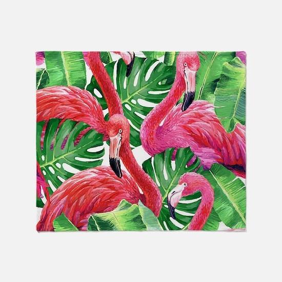 Flamingo Throw Blanket