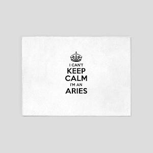 I can't keep calm Im ARIES 5'x7'Area Rug