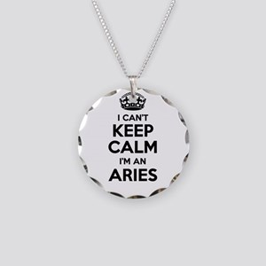 I can't keep calm Im ARIES Necklace Circle Charm