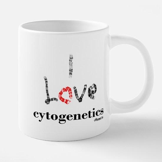I love Cytogenetics Chromosome Letters Mugs