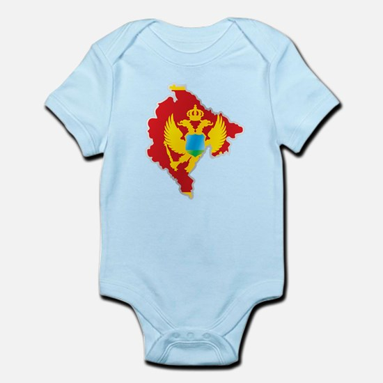 National territory and flag Montenegro Body Suit