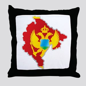 National territory and flag Montenegr Throw Pillow