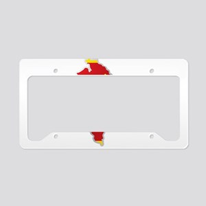 National territory and flag M License Plate Holder