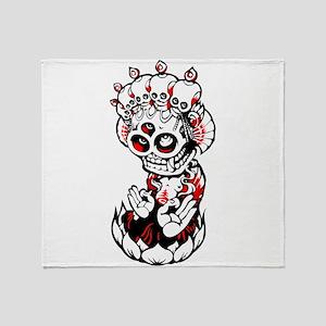 Devil skull idol art Throw Blanket