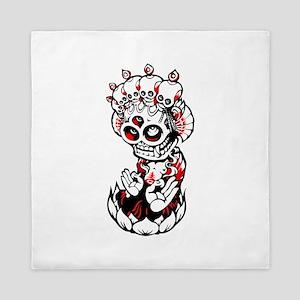 Devil skull idol art Queen Duvet