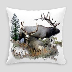 Buck deer bull elk Everyday Pillow