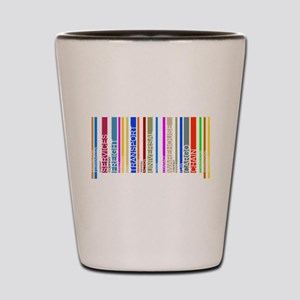 Colorful barcode graphic Shot Glass