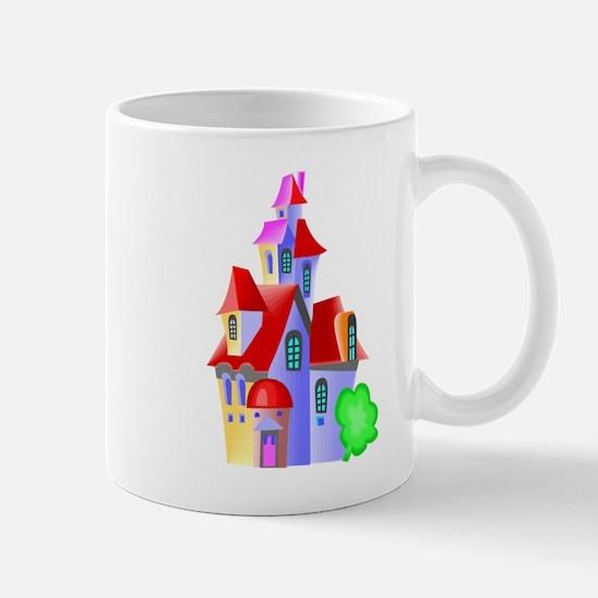Cartoon castle design Mugs
