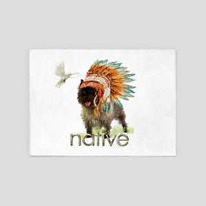 Native Cairn Terrier 5'x7'Area Rug