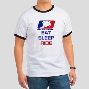 eat sleep ride Ringer T
