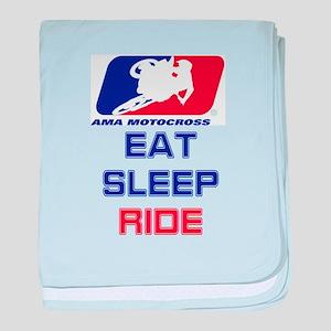 eat sleep ride baby blanket