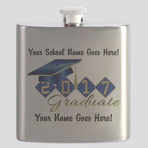 Graduate Blue 2017 Flask