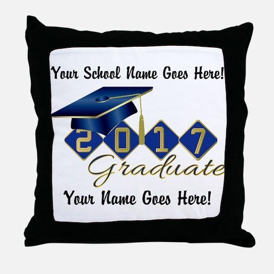 Graduate Blue 2017 Throw Pillow
