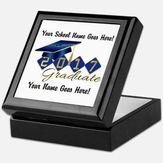 Graduate Blue 2017 Keepsake Box