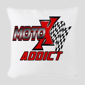 MOTOXAddict Woven Throw Pillow