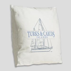 Turks and Caicos - Burlap Throw Pillow