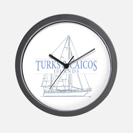 Turks and Caicos - Wall Clock