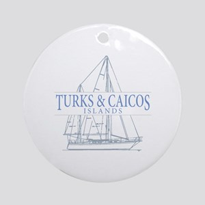 Turks and Caicos - Round Ornament