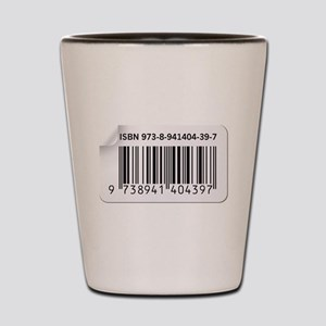 ISBN Barcode number image Shot Glass