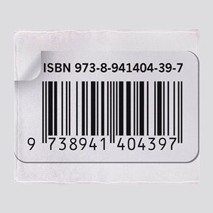 ISBN Barcode number image Throw Blanket