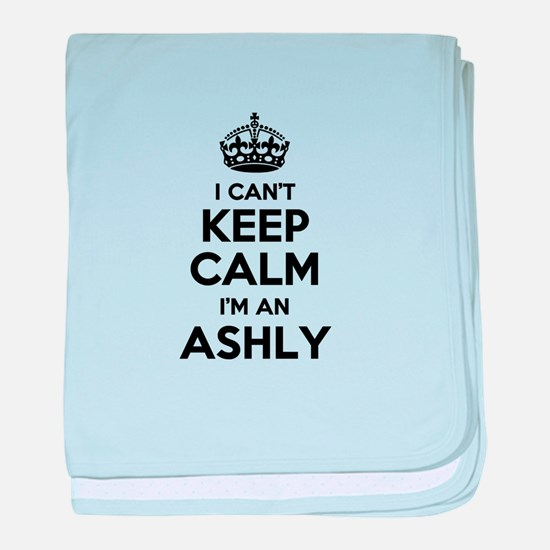 I can't keep calm Im ASHLY baby blanket