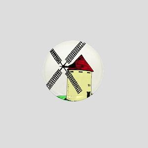 Windmill tower design Mini Button