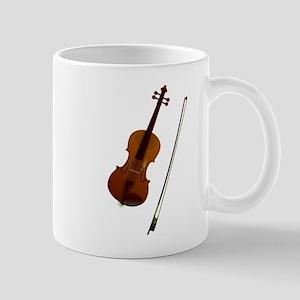Brown violin music art Mugs