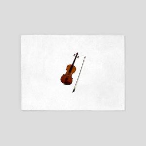 Brown violin music art 5'x7'Area Rug