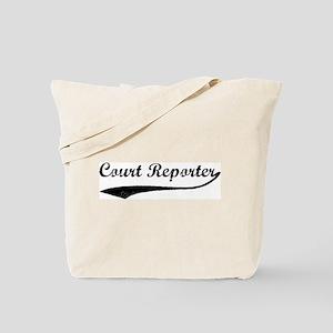 Court Reporter (vintage) Tote Bag