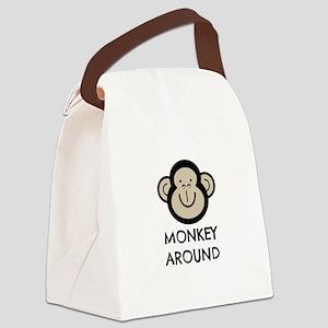 Monkey Around Canvas Lunch Bag