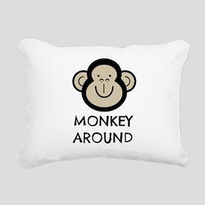 Monkey Around Rectangular Canvas Pillow