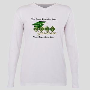 Graduate Green 2017 Plus Size Long Sleeve Tee