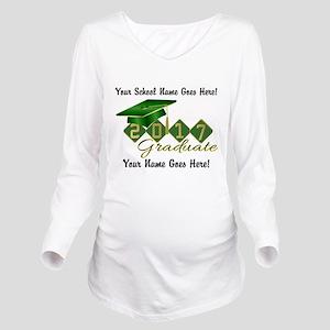 Graduate Green 2017 Long Sleeve Maternity T-Shirt