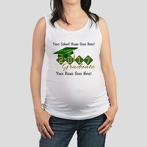 Graduate Green 2017 Maternity Tank Top