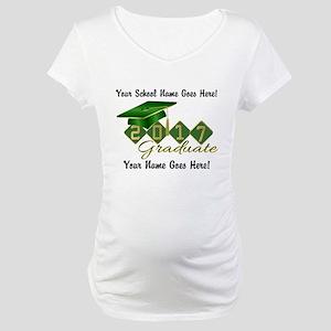 Graduate Green 2017 Maternity T-Shirt