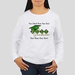 Graduate Green 2017 Women's Long Sleeve T-Shirt