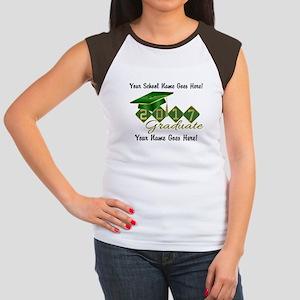Graduate Green 2017 Junior's Cap Sleeve T-Shirt